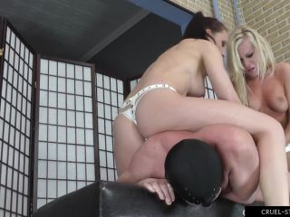 Cruel-Strapon  Hardcore Punishment. Starring Mistress Anette and Mistress Foxy