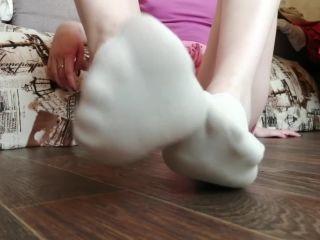 My sweaty socks and feet after gym