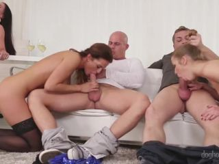 3 Euro Chicks In An Orgy