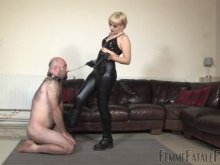 [Femdom 2018] Femme Fatale Films  Boot Busted  Complete Film. Starring Mistress Petite [BEAT DOWNS, GLOVE FETISH, GLOVE DOMINATION, LEATHER GLOVES]
