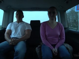 ty teacher and naive secretary convinced to ride cock for a ride in van