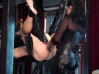 Pegging – Kinky Mistresses – Ezadas XL Strap-on In The Slave's Ass