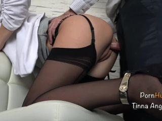 Tinna Angel - Secretary Fucked By Her Boss, Squirt, Creampie
