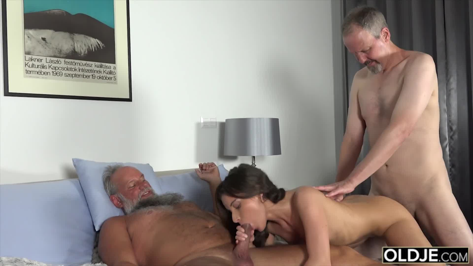 7305 Two old Man Fuck a Petite Teen Anal and Pussy plus with Facial Cu ... - k2s.tv