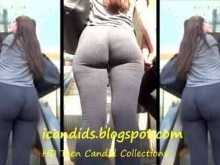 Candid vor bubble butt leggings hot teen
