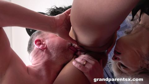 Veronique, Adelle Sabelle - First time sex with old couple (1080p)