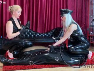 Latex edging! – Mistress Sandra, Mistress Alexandra Wildfire