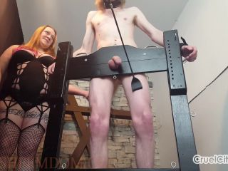 Cruel City  Mistress Scarlett and Miss April Torture Their Slave`s Cock [Scratching, CBT, Humiliation, Degradation]