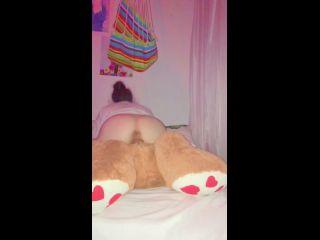 High Pussy - Very High Girl Fucking Her Teddy Bear Cums 3 Times