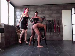 English – FEMDOM-POV-CLIPS – Learn To Count In German – Mistress Medina and Lady Chantal