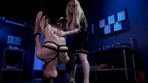Aiden Starr, Gia Derza - The Test Subject: Latex Nurse Aiden Starr Experiments on Gia Derza (540p)