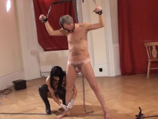 Violence To Men  Cock And Balls Clothespin Flogging. Starring Dometria