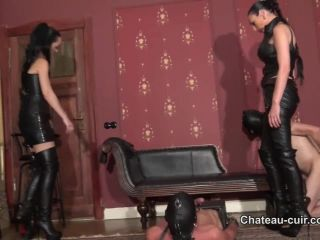 Porn online Chateau-Cuir – Boot whores made to cum part 2. Starring Fetish Liza and Madame Catarina [Cum Swallowing, Male Cum Swallowers, Cum on Boots] femdom