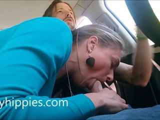 Hippie Roadhead with Massive Orgasm