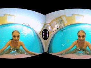 VR - Slender blonde swimmer fucked a horny stalker