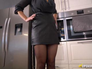 Porn online UpSkirt Jerk – Tight Leather Skirt