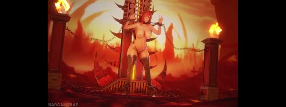 Succubus Tail Tickle Punishment - Baronstrap