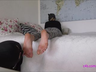 German Goddesses –  Mistress Katharina  – Foot Worshipped While Relaxing On Bed By Mistress Katharina (1080 HD) – Foot Worship – Footworship, Foot Licking