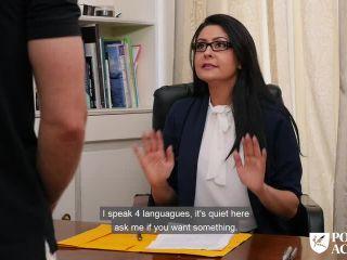 Mariska - Seductive librarian Mariska seduces student then fucks the p ...
