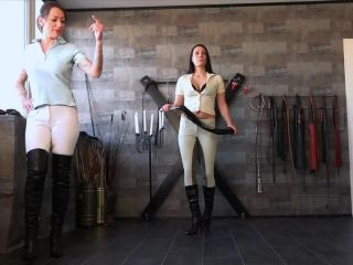 Domination – FEMDOM-POV-CLIPS – Whipping And Cigarette Torture – Miss Jayla And Mistress Medina