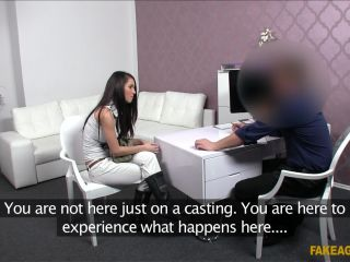 18-Year-Old Brunette Babe Excited To Ride Agent's Hard Dick - January 29, 2014