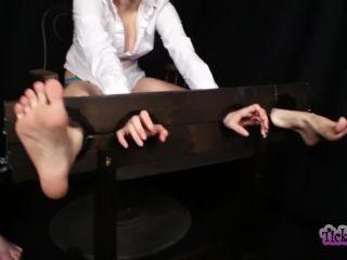 Ticklish redhead