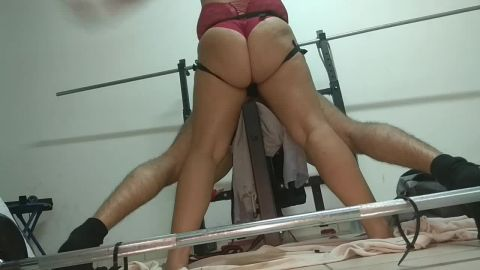7105 Best Strapon Fuck in Gym with Orgasm ever Seen