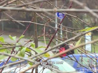 Petra fucks a guy in bushes | Czech Experiment 6
