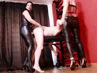 CBT and strapon fucked by 3 Goddesses [HD 720P] - Screenshot 1