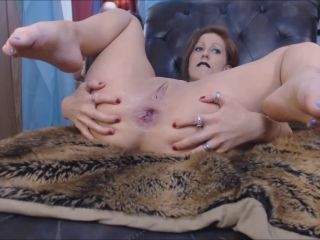 Moxi Minx - Black Leather (Huge Driller Dildo in Prolapse anal)