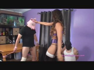Jasmine Mendez LatinAss Locas – Ball Bust Interview with local pig! | ballbusting | femdom porn captioned femdom situations