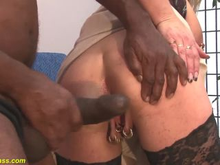 Extr big boob german milf rough anal fucked by a brazilian monster cock