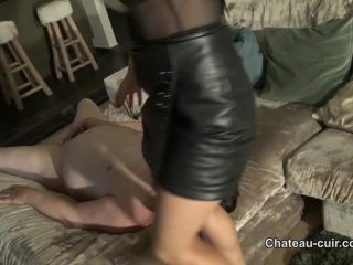 Blonde – Chateau-Cuir – Cum release for smothered slave part 2 – Nikki Whiplash