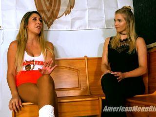 Femdom – THE MEAN GIRLS – Hooters Waitress Training – Princess Skylar and Princess Amber