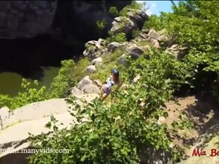 ManyVids Webcams Video presents Girl Mia Bandini in WILD PUBLIC FUCKING ON A HIGH CLIFF