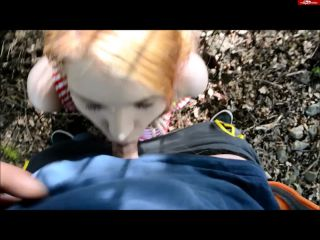 SophiaLure - First Outdoor Cumshot