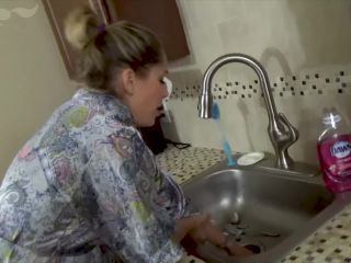Mom's Hand Gets Stuck in Sink & StepSon Takes Advantage of Her - POV, MILF