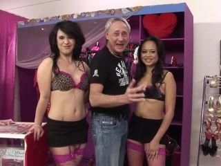 Hot asian milf babes share huge cocks