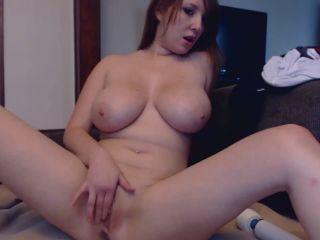 SummerKova - Hitachi Cum Busty redhea Fucked her self on LIVE Webcam ...