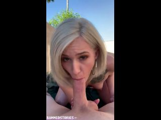 Blonde Teen Kiara Cole Public Sex after Break-in POV