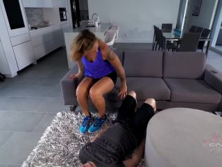 [Femdom 2018] Bratty Foot Girls  Inhale my stinky HUGE size 16s. Starring Mikayla Miles [Foot Domination, Mikayla Miles, Foot Smelling, Foot Sniffing]