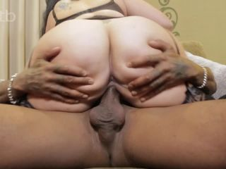 Big white babe got that hairy pussy fucked by BBC