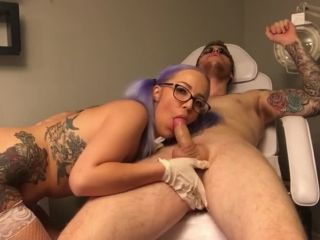Doctor's visit - Nurse makes rimming, edging and prostate milking