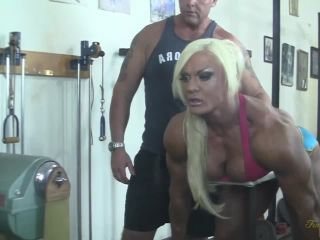 Naked Muscle Porn Star Lisa Cross and Her Stud Workout Partner