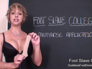 Goddess Brianna in Pantyhose Application