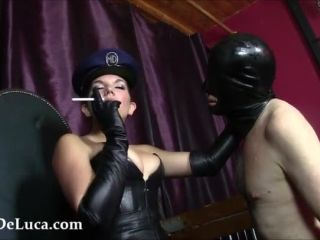 [Femdom 2018] Fascist FemDom  Treason: Ash & Glove Fucked. Starring Elena De Luca [SMOKING, HUMAN ASHTRAY, GLOVE FETISH, FACE FUCKING]