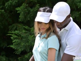 Hole in 1: Gold Coach Uses his Big Black Driver to Make Francys Belle Squirt Hard