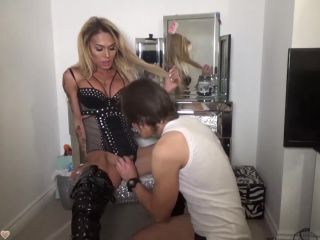 Mia Maffia PVC Around Your Neck And My Cock In Your Throat
