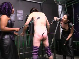 Leather Fetish – Cybill Troy FemDom Anti-Sex League – Cock Caning Punishment – Ariana Chevalier