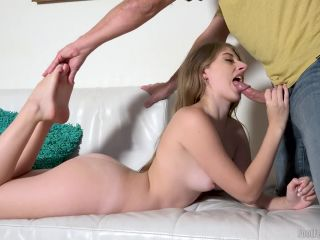 Young alyce anderson enjoys foot